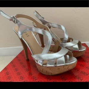 Guess heeled sandals, size 6.5